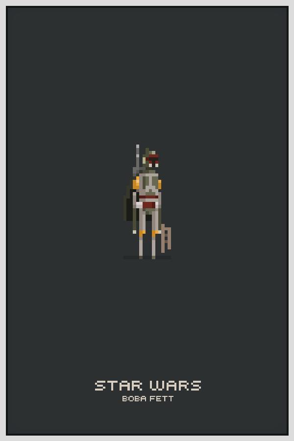 Character Design Pixel Art : Awesome star wars pixel art by michael b myers jr