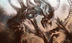 4-Panel 'Alien' Street Art In East London