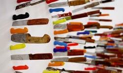 Knife Typography By Farhad Moshiri