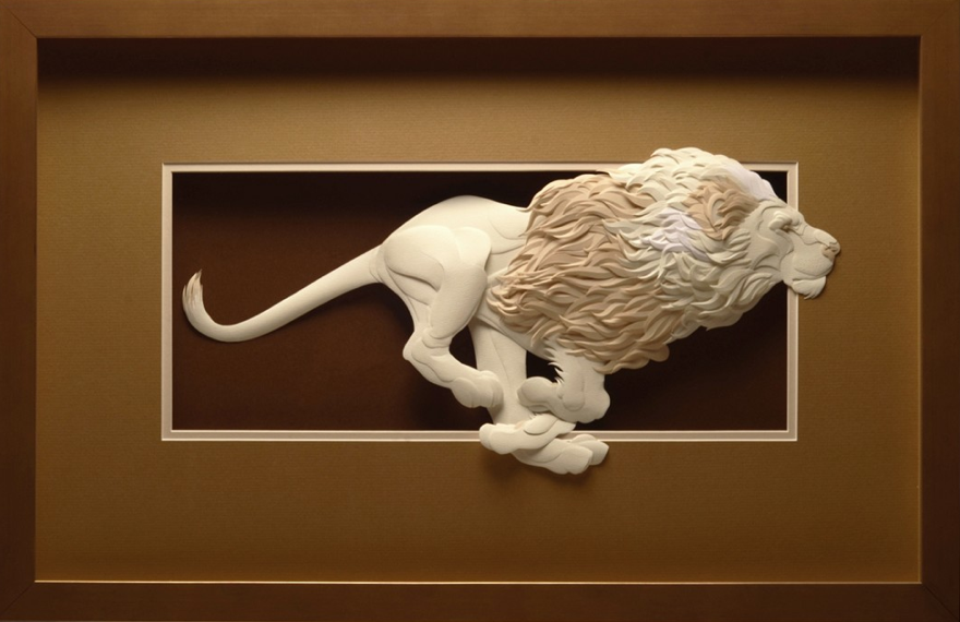 Insane paper animal sculptures by calvin nicholls for Calvin nichols