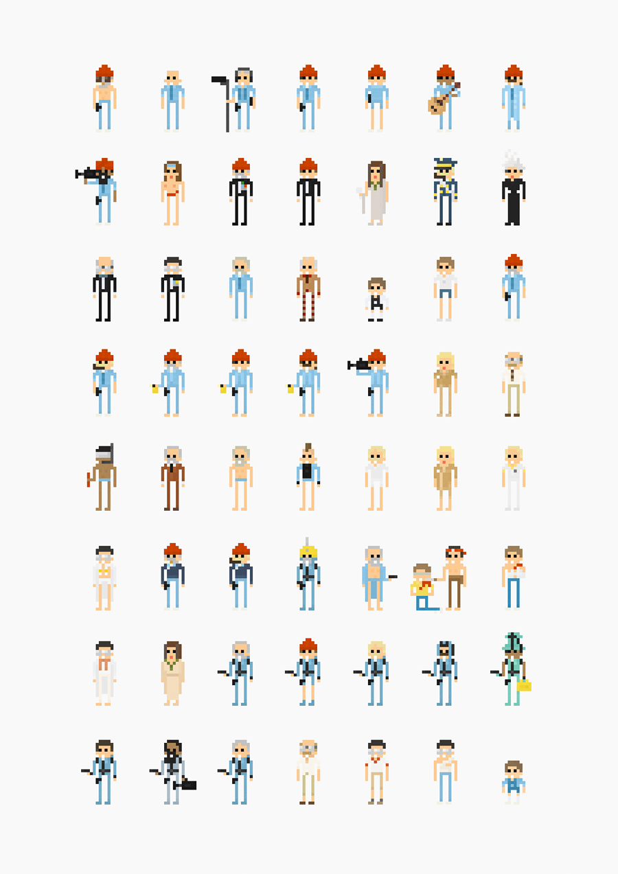 Fitz Fitzpatrick's 8-Bit Film Posters - CROMEYELLOW COM