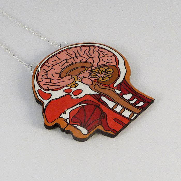 Hand-Painted Anatomical Jewelry By Handsome Egg - CROMEYELLOW.COM