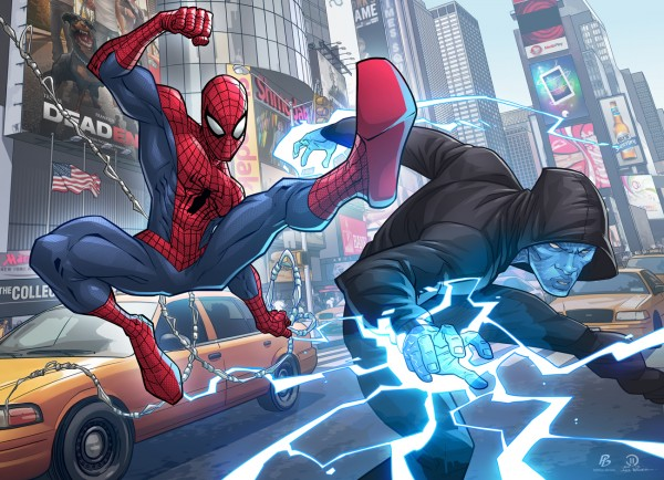 spidey electro_patrick_brown