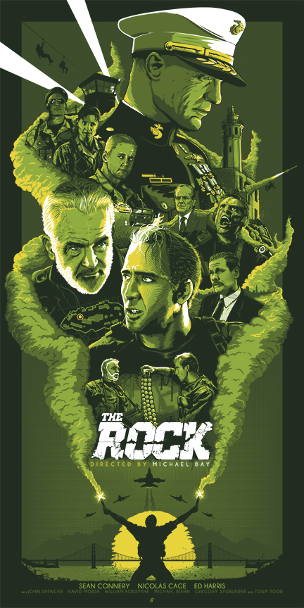the-rock_screenprint_green