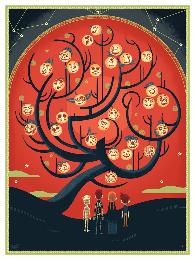 The Halloween Tree' & 'Mad Monster Party' Prints From Strange Kids ...