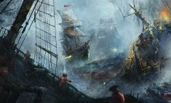 'The Naval Battle' By Karl Fitzgerald