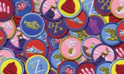 Merit Badges Inspired by Wes Anderson, By Tracie Ching
