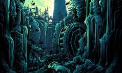 'The Two Towers' By Dan Mumford