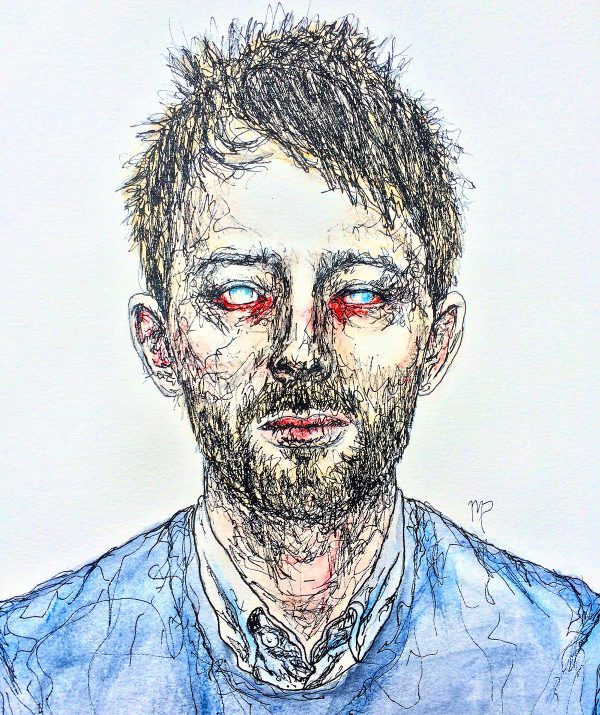 Thom Yorke by Maddie Peshek