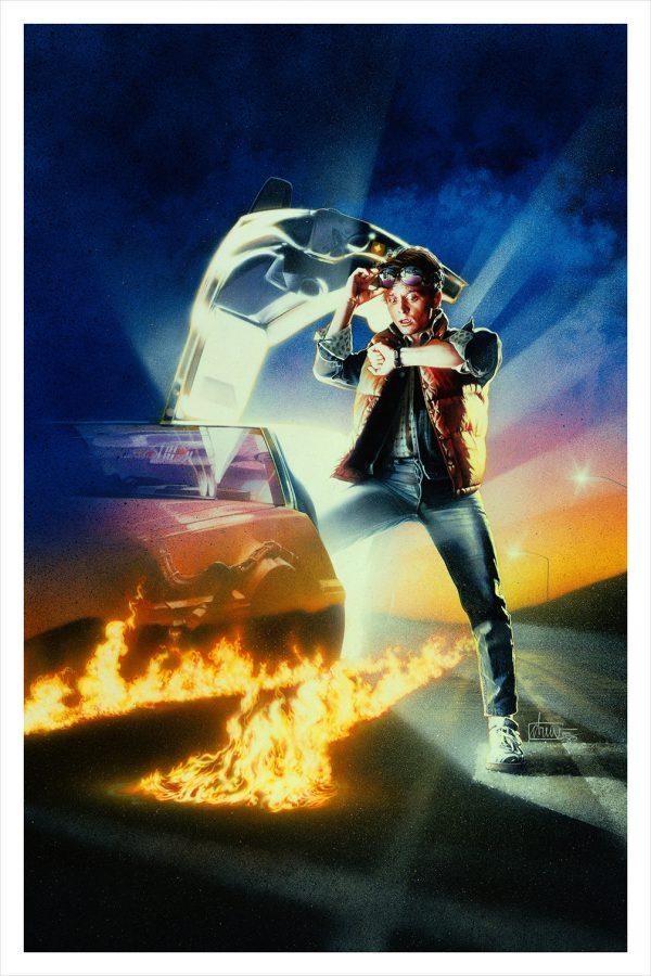 Drew Struzan Back to the Future Hero Complex poster art print