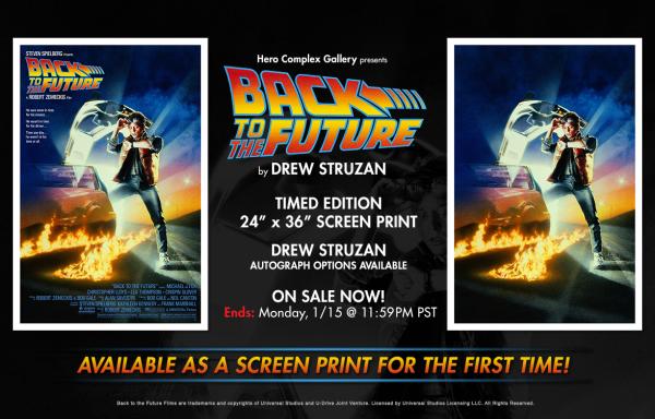 Drew Struzan Back to the Future Hero Complex poster dates