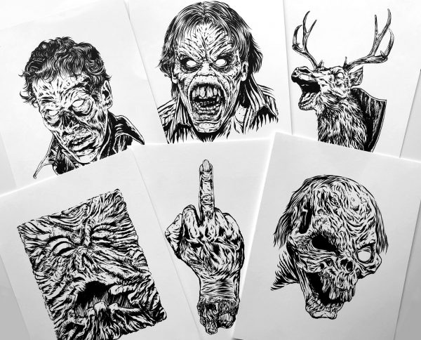 Anthony Petrie Evil Dead 2 drawings