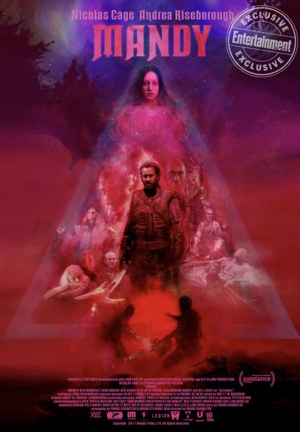 Mandy movie poster Panos Cosmatos Nicolas Cage