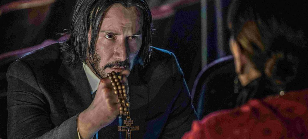 John Wick 3 review Keanu Reeves Anjelica Huston